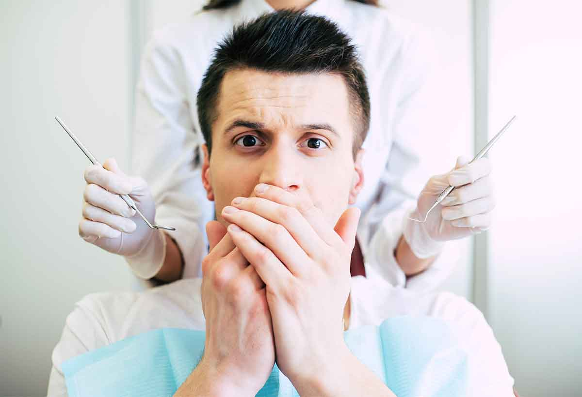 patient fearful of dentist